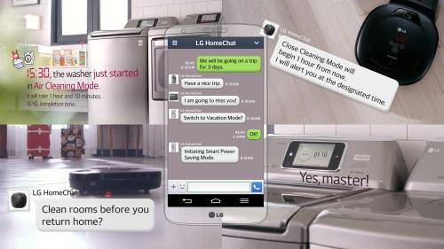 Chat med vitvaror uppföljning av LG på Harrods