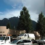 """De två bergstopparna i North Bend som gav """"Twin Peaks"""" dess namn."""